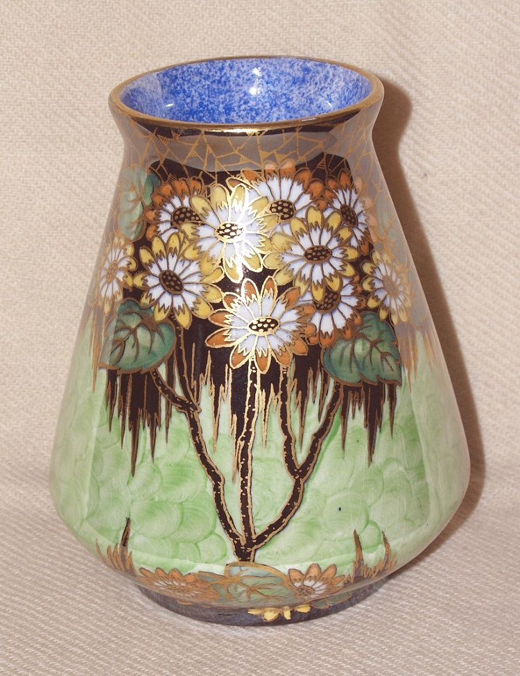 Conical vase Daisy green