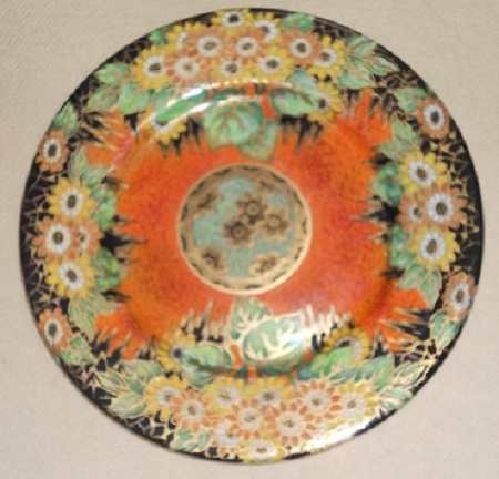 plaque Daisy orange